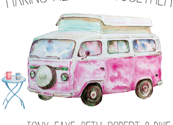 Camper, Caravan or Tent Family Print (No frame)