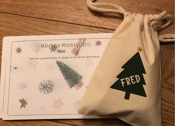 Mindfulness Christmas grapat cards printed