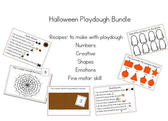 Halloween Playdough Activities