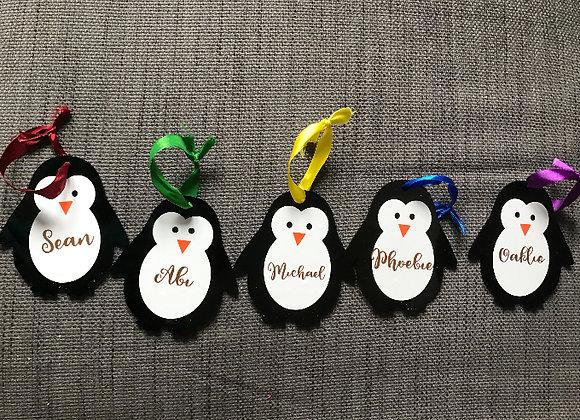 Penguin name decoration