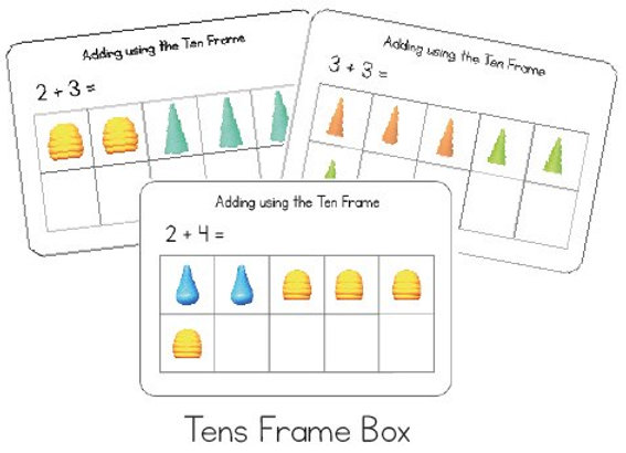 Tens Frame Addition (Grapat pieces)