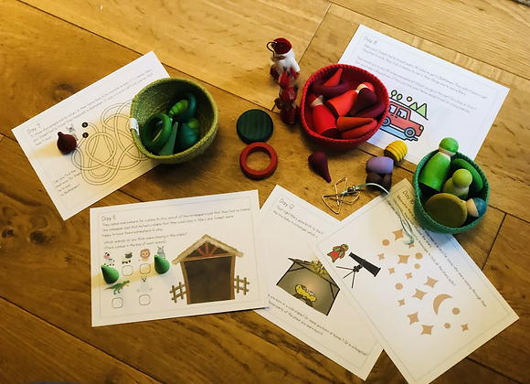 Christmas and Advent Activities Loose Parts cards