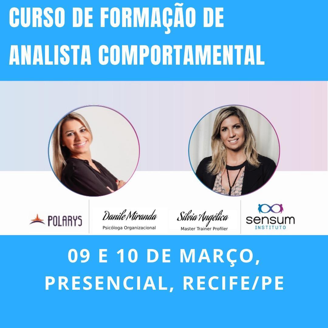 Formação de Analista Comportamental - RECIFE dias 09 e 10 de março ⠀