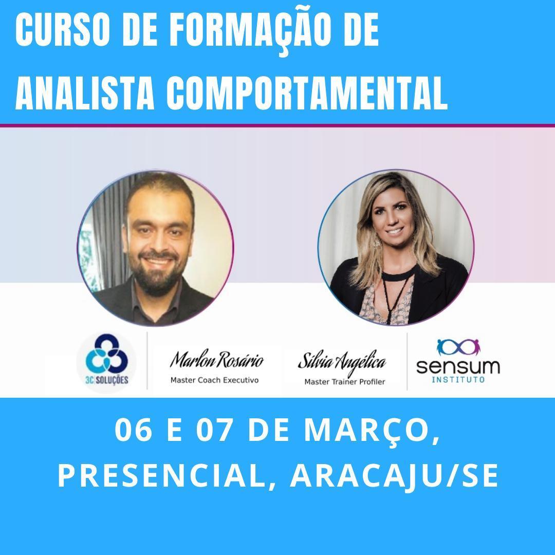 Formação de Analista Comportamental - ARACAJU dias 06 e 07 de março ⠀