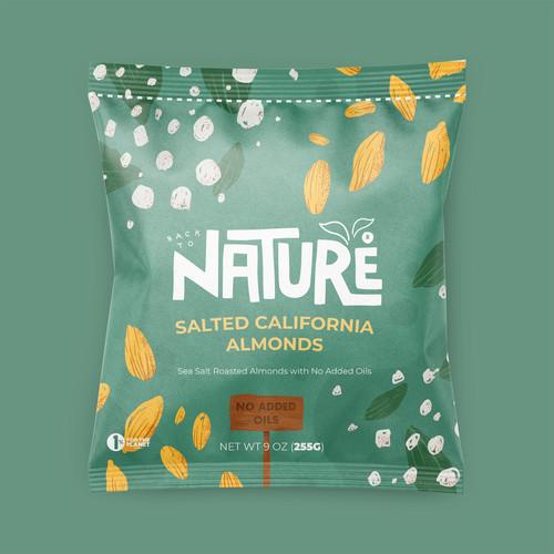 Salted California Almonds