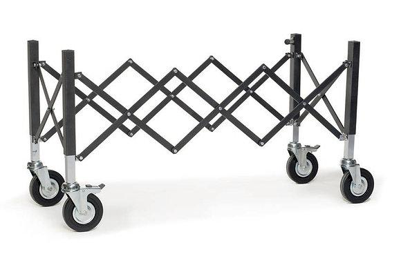Carro portaferetros extensible de aluminio con rue