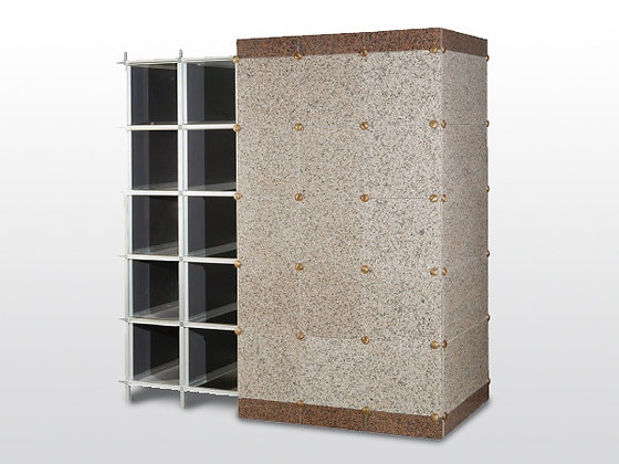 Columbarios de urnas y cajas de osarios