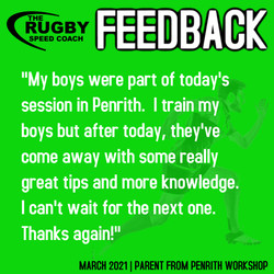 TESTIMONIAL RUGBY SPEED COACH PENRITH 2021