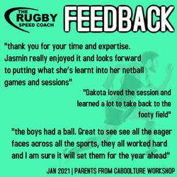 TESTIMONIAL RUGBY SPEED COACH