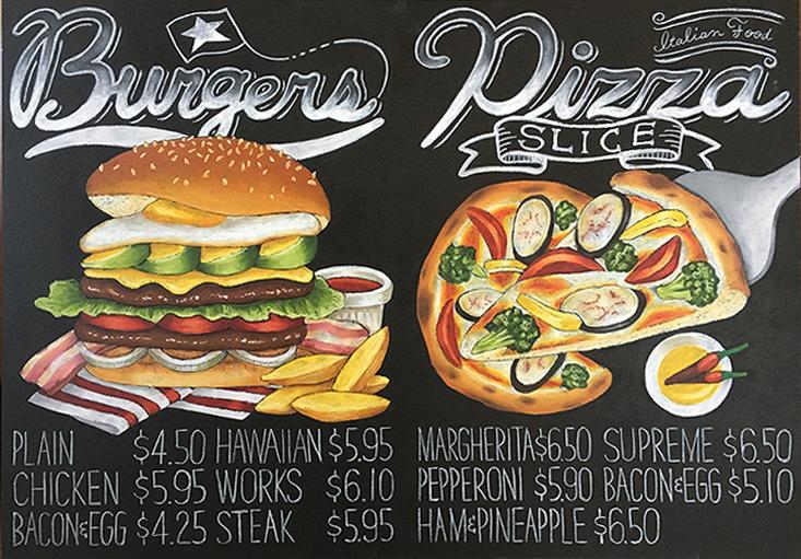 Burgers & Pizza