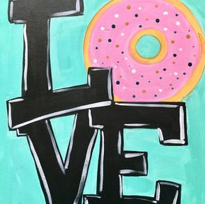 Custom Love Donut