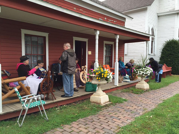 Porch time at the Parsonage