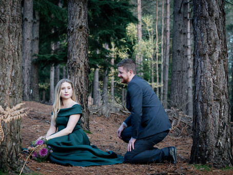 Autumnal forest wedding portraits - a styled shoot in Surrey