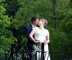 Wedding reception in rustic mill in Surrey
