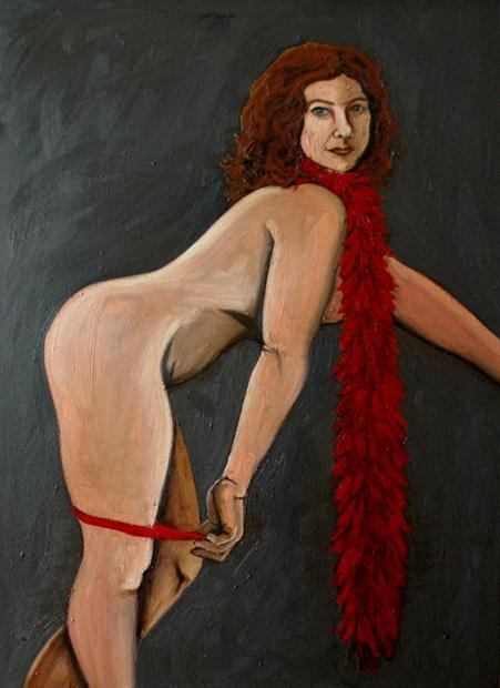 Miz Burroughs at Moulin Rouge