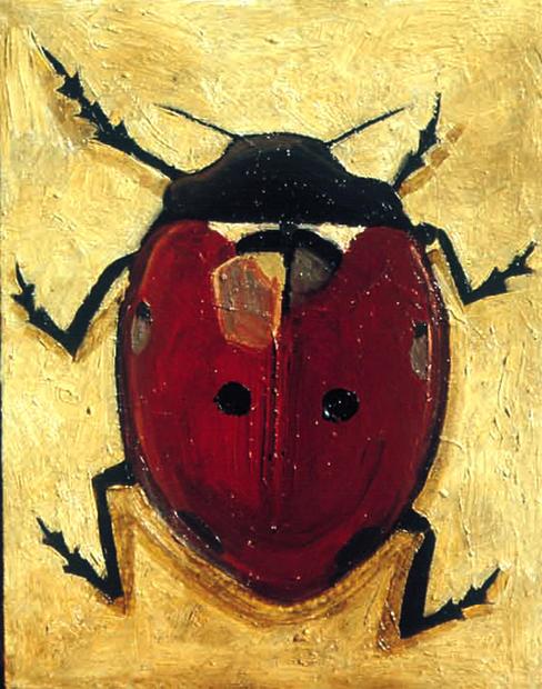 Lady Beetle on Yellow