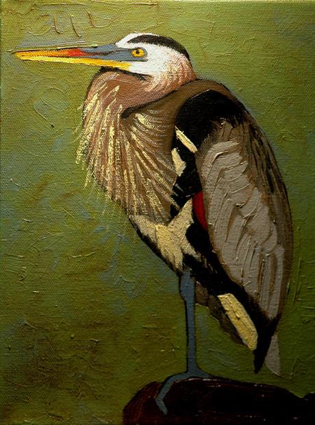 Heron on Green