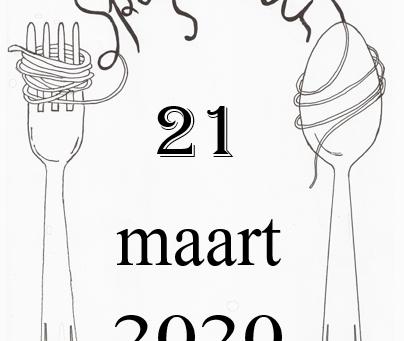 Spaghetti 21 maart 2020 GEANNULEERD