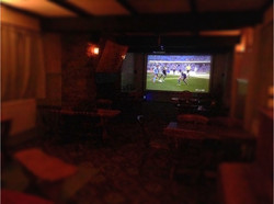 Cinema Screen in our Function Room