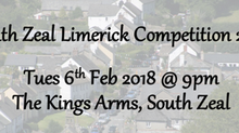 South Zeal Limerick Competition