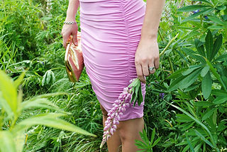 Ruched Pink Dress