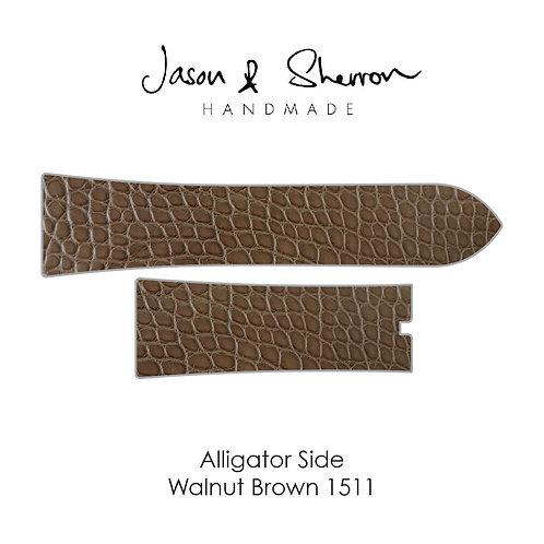 Alligator Side Walnut Brown 1511: Watch Strap Customisation