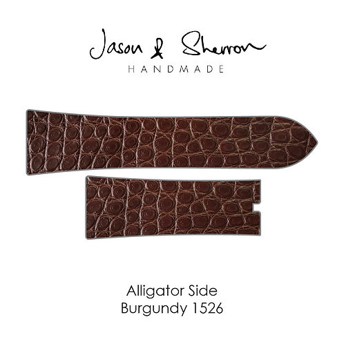 Alligator Side Burgundy 1526: Watch Strap Customisation