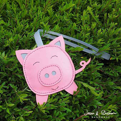 Pig: Leather Bag Charm