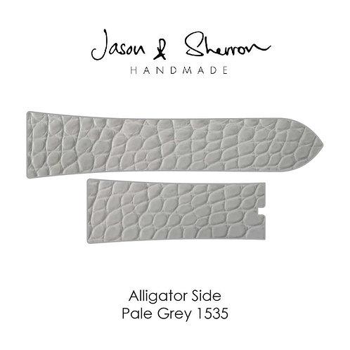 Alligator Side Pale Grey 1535: Watch Strap Customisation