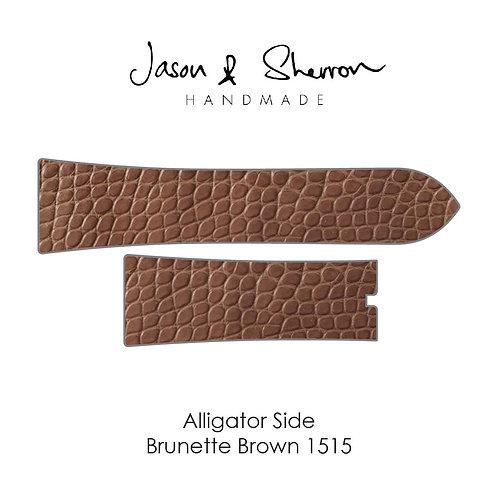 Alligator Side Brunette Brown 1515: Watch Strap Customisation