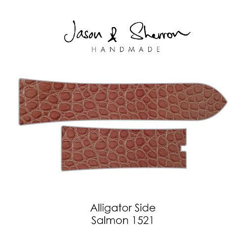 Alligator Side Salmon 1521: Watch Strap Customisation