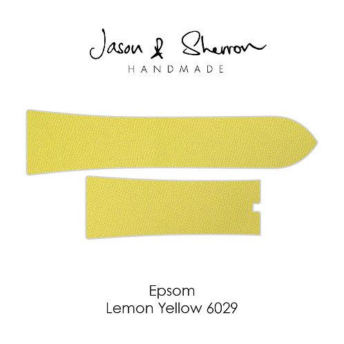 Epsom Lemon Yellow 6029: Watch Strap Customisation