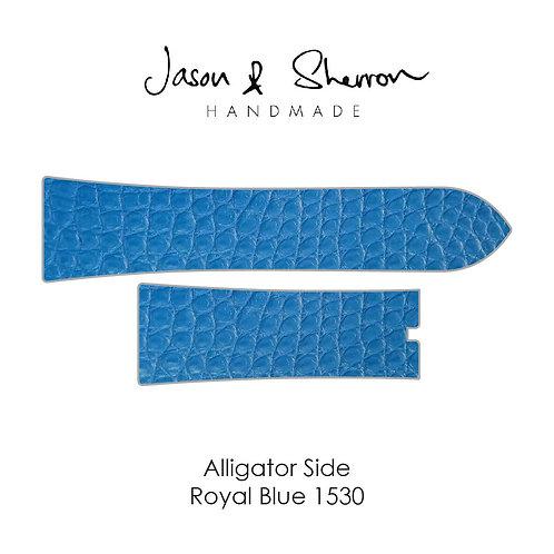 Alligator Side Royal Blue 1530: Watch Strap Customisation