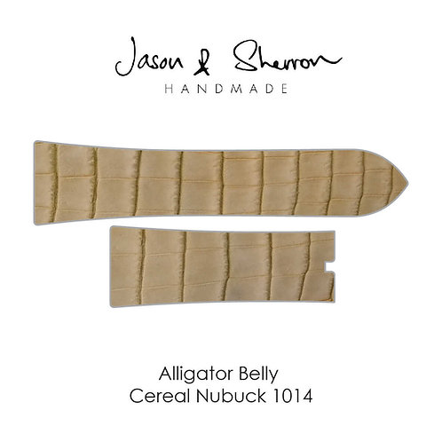Alligator Belly Cereal Nubuck 1014: Watch Strap Customisation