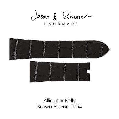 Alligator Belly Ebene Brown 1054: Watch Strap Customisation