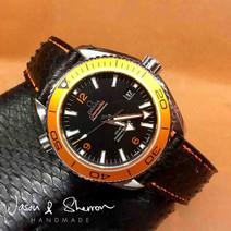 Omega Seamaster in Python Black with Ora