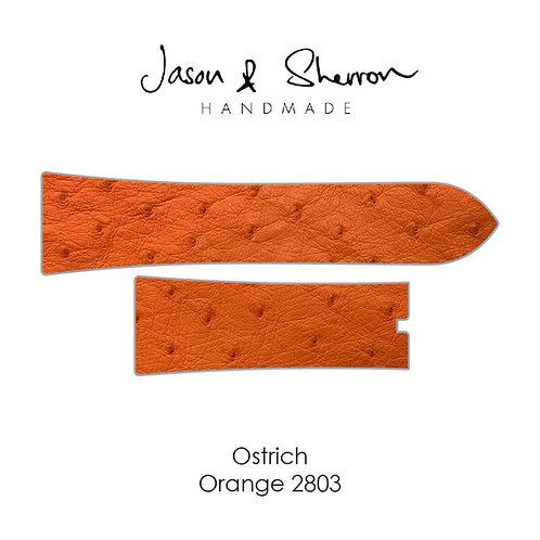 Ostrich Orange 2803: Watch Strap Customisation