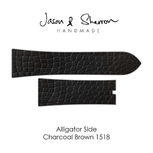 Alligator Side Charcoal Brown 1518: Watch Strap Customisation