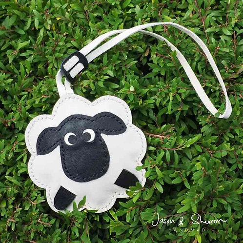 Sheep: Leather Bag Charm