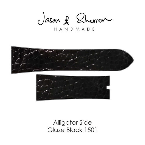 Alligator Side Glaze Black 1501: Watch Strap Customisation