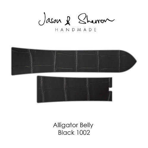 Alligator Belly Black 1002: Watch Strap Customisation