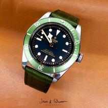 """Tudor Black Bay """"Green"""" in Alligator For"""