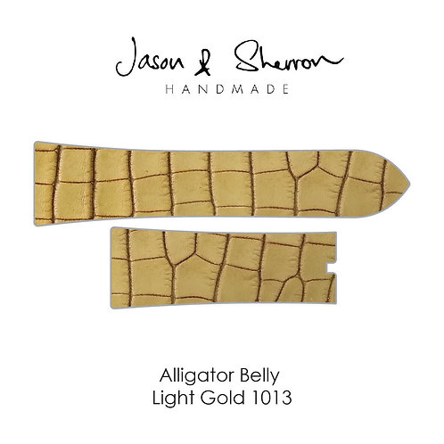 Alligator Belly Light Gold 1013: Watch Strap Customisation