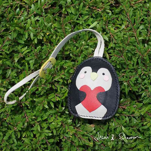 Penguin: Leather Bag Charm