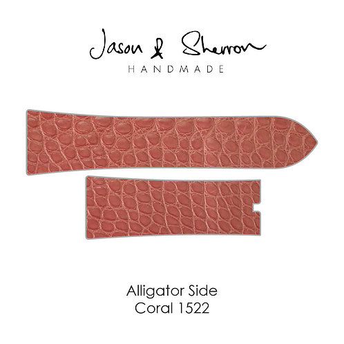 Alligator Side Coral 1522: Watch Strap Customisation