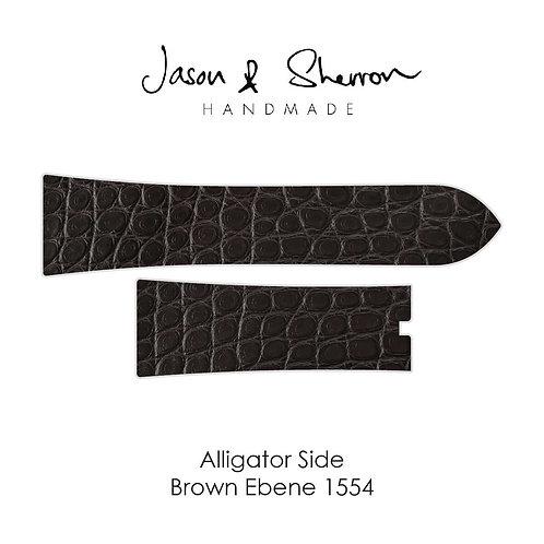 Alligator Side Ebene Brown 1554: Watch Strap Customisation