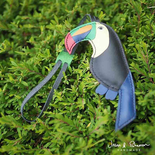 Toucan: Leather Bag Charm