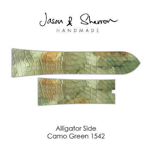 Alligator Side Camo Green 1542: Watch Strap Customisation