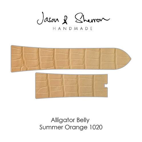 Alligator Belly Summer Orange 1020: Watch Strap Customisation