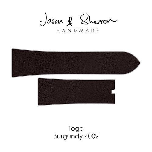 Togo Burgundy 4009: Watch Strap Customisation